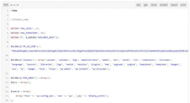 کد های مخرب قالب و افزونه وردپرس